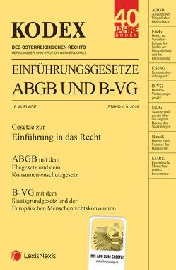 KODEX Einführungsgesetze ABGB und B-VG 2019/20 von Doralt,  Werner