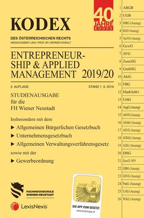 KODEX Entrepreneurship & Applied Management 2019/20 von Doralt,  Werner