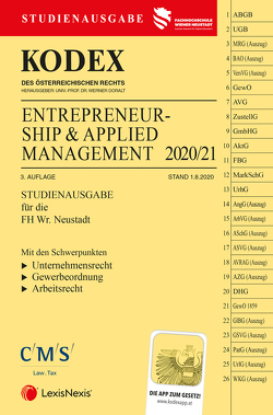 KODEX Entrepreneurship & Applied Management 2020 von Doralt,  Werner