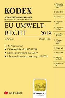 KODEX EU-Umweltrecht 2019 von Doralt,  Werner, Weinberger,  Franz