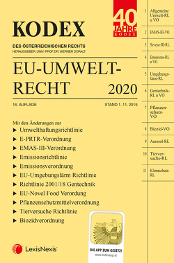 KODEX EU-Umweltrecht 2020 von Doralt,  Werner, Weinberger,  Franz