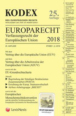 KODEX EU-Verfassungsrecht (Europarecht) 2018 von Doralt,  Werner, Moser,  Martin K., Stix-Hackl,  Christine