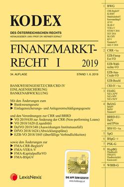 KODEX Finanzmarktrecht Band I 2019 von Doralt,  Werner, Egger,  Bernhard