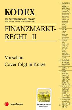 KODEX Finanzmarktrecht Band II 2019/20 von Doralt,  Werner, Egger,  Bernhard