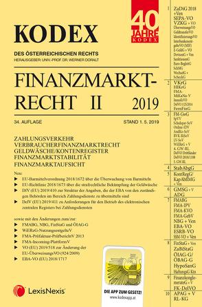 KODEX Finanzmarktrecht Band II 2019 von Doralt,  Werner, Egger,  Bernhard