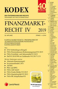 KODEX Finanzmarktrecht Band IV 2019 von Doralt,  Werner, Egger,  Bernhard