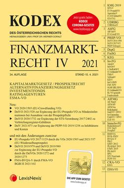 KODEX Finanzmarktrecht Band IV 2021 von Doralt,  Werner, Egger,  Bernhard