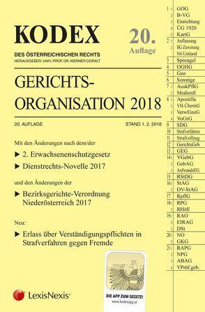 KODEX Gerichtsorganisation 2018 von Doralt,  Werner, Maleczky,  Oskar