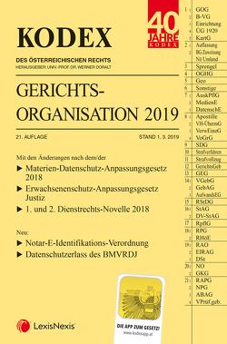KODEX Gerichtsorganisation 2019 von Doralt,  Werner, Maleczky,  Oskar