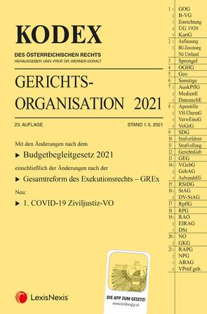 KODEX Gerichtsorganisation 2021 von Doralt,  Werner, Maleczky,  Oskar