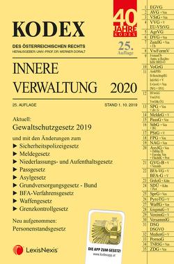 KODEX Innere Verwaltung 2020 von Doralt,  Werner, Grosinger,  Walter