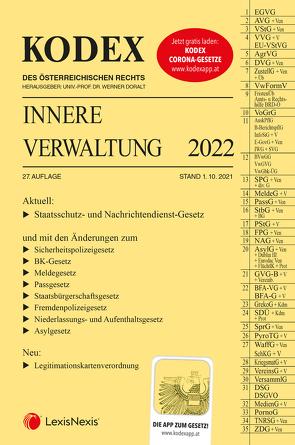 KODEX Innere Verwaltung 2022 – inkl. App von Doralt,  Werner, Grosinger,  Walter