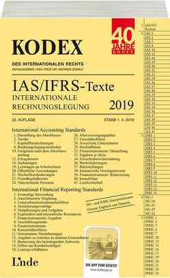 KODEX Internationale Rechnungslegung IAS/IFRS – Texte 2019 von Doralt,  Werner, Wagenhofer,  Alfred