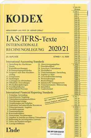 KODEX Internationale Rechnungslegung IAS/IFRS – Texte 2020/21 von Doralt,  Werner, Wagenhofer,  Alfred