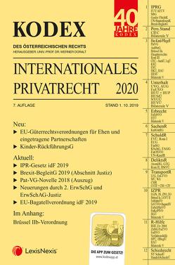 KODEX Internationales Privatrecht 2019/20 von Cap,  Verena, Doralt,  Werner