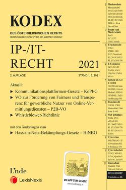 KODEX IP-/IT-Recht 2021 von Doralt,  Werner, Pachinger,  Michael M.