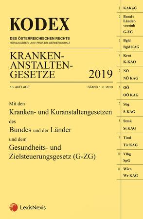 KODEX Krankenanstaltengesetze 2019 von Doralt,  Werner, Steiner,  Peter