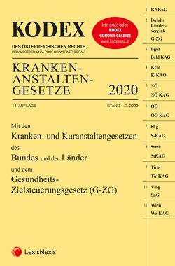 KODEX Krankenanstaltengesetze 2020 von Doralt,  Werner, Steiner,  Peter