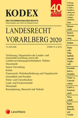 KODEX Landesrecht Vorarlberg 2020 von Deschler,  Ramona, Doralt,  Werner, Thalhammer,  Heidemarie