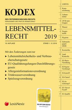 KODEX Lebensmittelrecht 2018/19 von Doralt,  Werner, Mahmood,  Amire