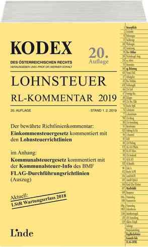 KODEX Lohnsteuer Richtlinien-Kommentar 2019 von Doralt,  Werner, Hofbauer,  Josef
