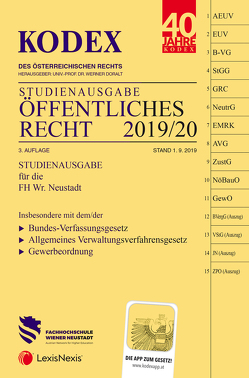 KODEX Öffentliches Recht 2019/20 von Doralt,  Werner, Nesslinger,  Vanessa