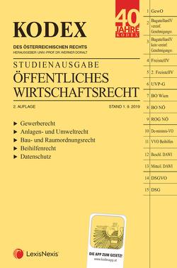 KODEX Öffentliches Wirtschaftsrecht 2019/20 von Doralt,  Werner