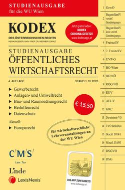 KODEX Öffentliches Wirtschaftsrecht 2020/21 von Doralt,  Werner