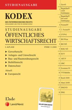 KODEX Öffentliches Wirtschaftsrecht 2020 von Doralt,  Werner
