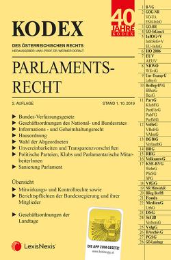 KODEX Parlamentsrecht 2019/20 von Doralt,  Werner