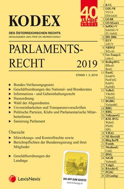 KODEX Parlamentsrecht von Doralt,  Werner