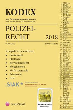 KODEX Polizeirecht 2018 von Beyrer,  Michael, Doralt,  Werner