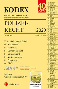 KODEX Polizeirecht 2020 von Beyrer,  Michael, Doralt,  Werner