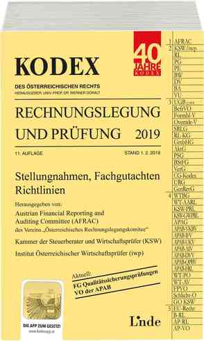 KODEX Rechnungslegung und Prüfung 2019 von Bakel-Auer,  Katharina, Doralt,  Werner, Gedlicka,  Werner, Knotek,  Markus