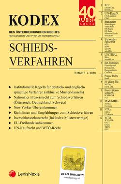 KODEX Schiedsverfahren von Beham,  Markus, Doralt,  Werner, Hofer,  Matthias