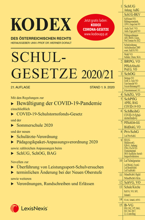 KODEX Schulgesetze 2020/21 von Bitterer,  Andreas, Doralt,  Werner