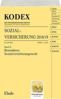 KODEX Sozialversicherung 2018/19, Band II von Brameshuber,  Elisabeth, Doralt,  Werner