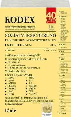 KODEX Sozialversicherung 2019, Band III von Baumann,  Herta, Doralt,  Werner, Jakobs,  Veronika