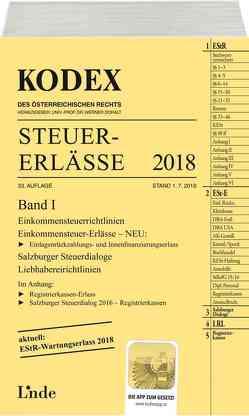KODEX Steuer-Erlässe 2018 Band I von Bodis,  Andrei, Doralt,  Werner