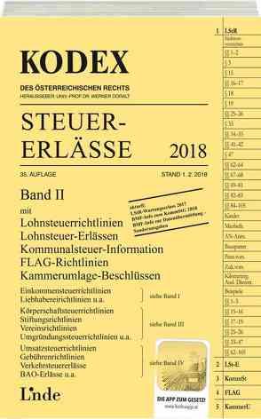 KODEX Steuer-Erlässe 2018, Band II von Bodis,  Andrei, Doralt,  Werner
