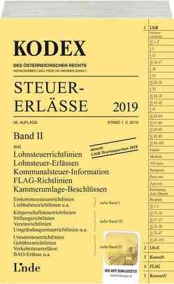 KODEX Steuer-Erlässe 2019, Band II von Bodis,  Andrei, Doralt,  Werner