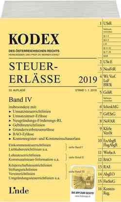 KODEX Steuer-Erlässe 2019, Band IV von Bodis,  Andrei, Doralt,  Werner