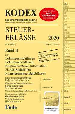 KODEX Steuer-Erlässe 2020, Band II von Bodis,  Andrei, Doralt,  Werner