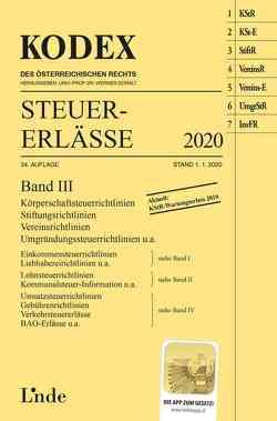 KODEX Steuer-Erlässe 2020 Band III von Bodis,  Andrei, Doralt,  Werner