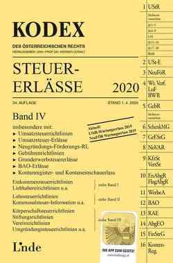 KODEX Steuer-Erlässe 2020, Band IV von Bodis,  Andrei, Doralt,  Werner