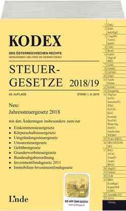 KODEX Steuergesetze 2018/19 von Bodis,  Andrei, Doralt,  Werner
