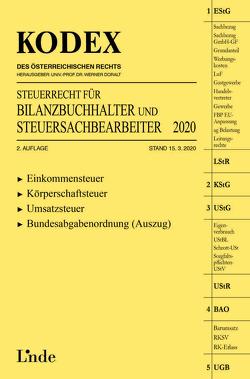 KODEX Steuerrecht für Bilanzbuchhalter und Steuersachbearbeiter 2020 von Doralt,  Werner, Hilber,  Klaus