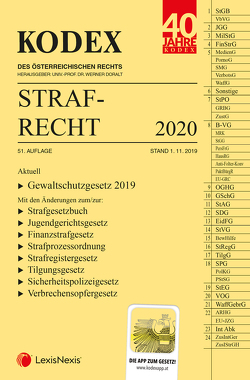 KODEX Strafrecht 2020 von Burianek,  Clemens, Doralt,  Werner