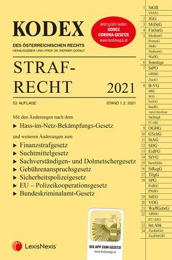KODEX Strafrecht 2021 von Burianek,  Clemens, Doralt,  Werner