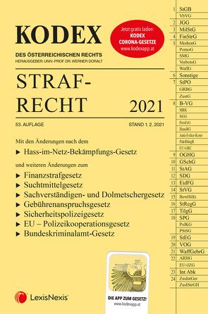 KODEX Strafrecht 2021 – inkl. App von Burianek,  Clemens, Doralt,  Werner